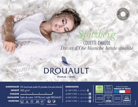 Couette Drouault Duvet by Couette Drouault Spitzberg 300 G M 178 Naturel En Duvet Oie