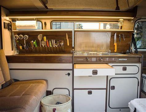volkswagen  westfalia interior  van living carsboard