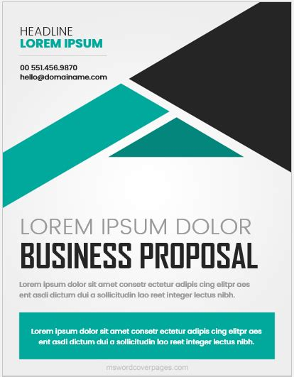 business proposal cover page templates word ms word