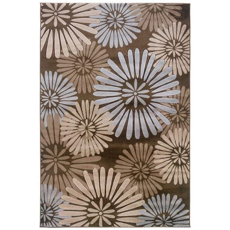 linon home decor milan collection brown and turquoise 5 ft linon home decor milan collection black and turquoise 8 ft