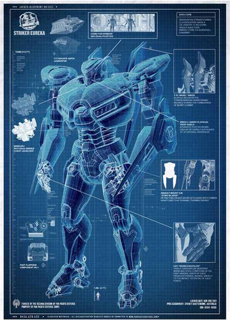 film blueprint blueprints appear for pacific rim giant robot oh my