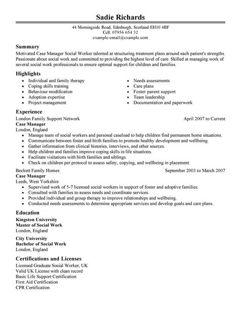 best case manager resume exle livecareer