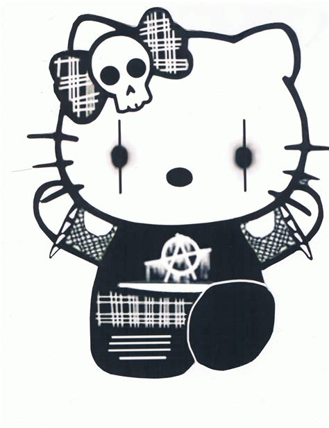 wallpaper hello kitty punk gothic hello kitty evil pinterest