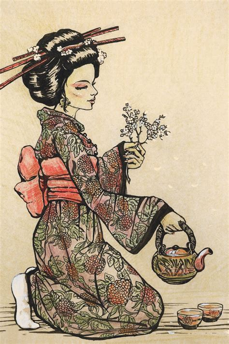 Japanese Home Decor Store by Portrait Poster Canvas Painting Japanese Traditional Art