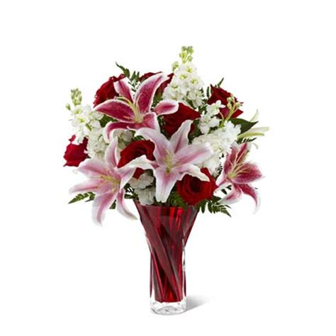 Bouquet Vase by The Ftd 174 Anniversary Bouquet Vase Included