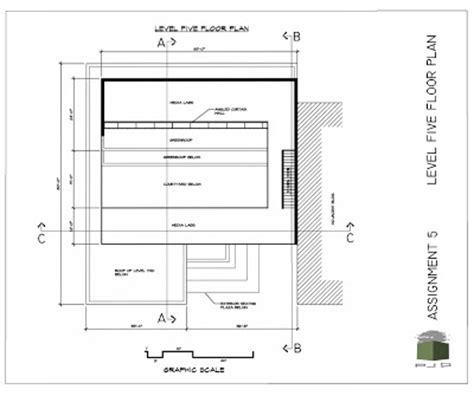 floor plan title block pjd distance m arch blog portfolio level five plan