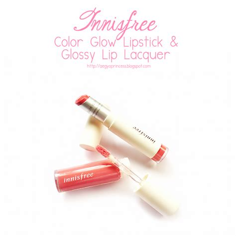 Innisfree Color Glow Lipstick innisfree color glow lipstick and glossy lip lacquer