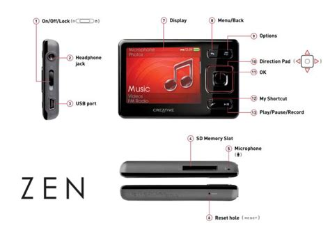 creative zen 16gb mp3 player co uk audio hifi