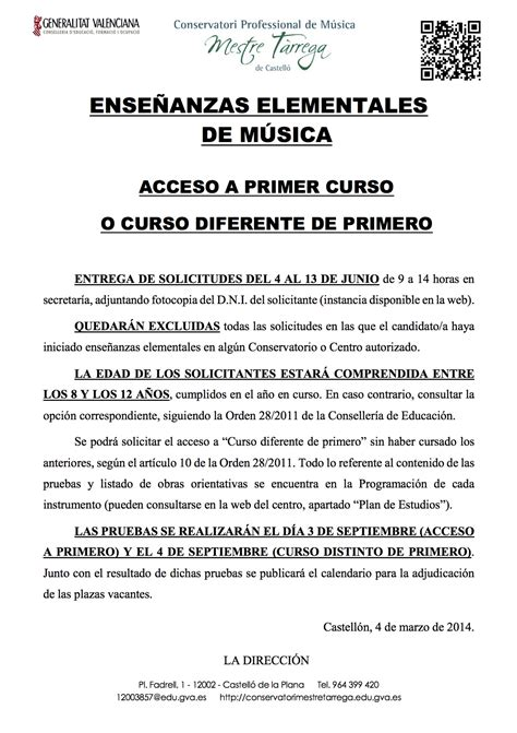 grado elemental prueba acceso grado elemental consertvatorio castellon 2014 2015 mondo ritmic escuela de