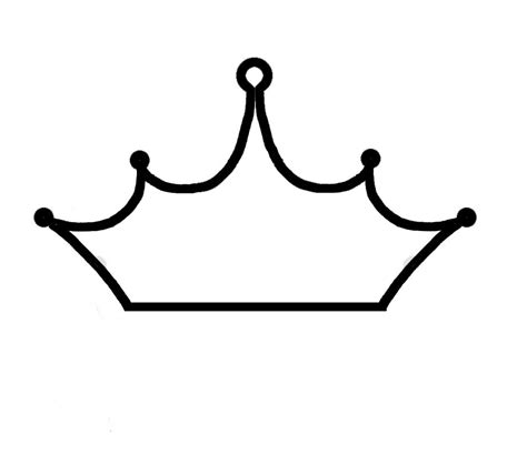 crown template black and white black and white crown cliparts co