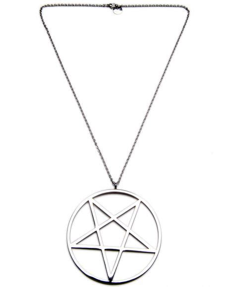 Killstar Pentagram Necklace Silver by Killstar Knit Sweater Dolls Kill
