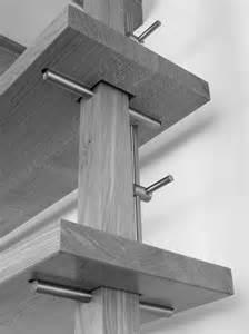 wood shelving systems adjustable height desk landing shelving system detail