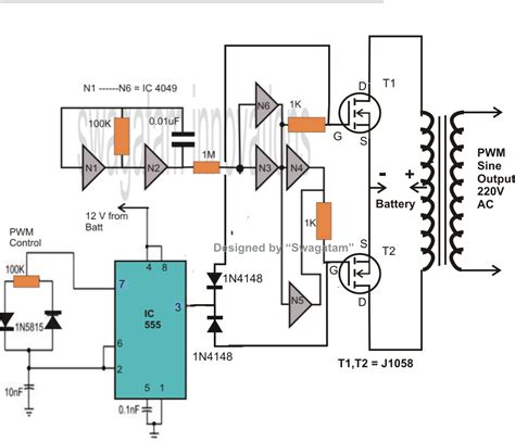 mosfet diagram make 400 watt mosfet sine wave inverter circuit