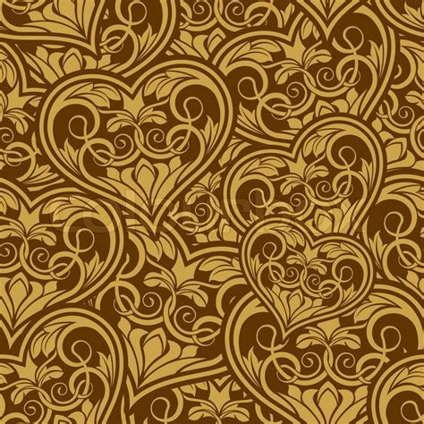 gold heart pattern wedding gold seamless wallpaper pattern with heart stock