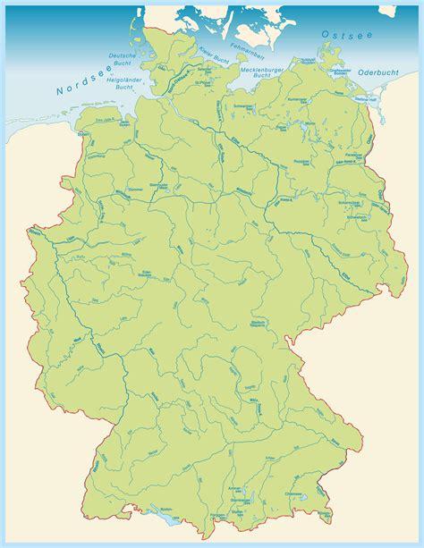 karte deutschland ᐅᐅ fl 252 sse deutschland karte die l 228 ngsten fl 252 sse in