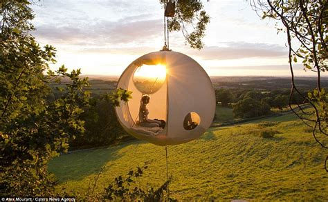 hanging tent hanging roomoon tents that look like the moon when lit up at go on sale daily mail