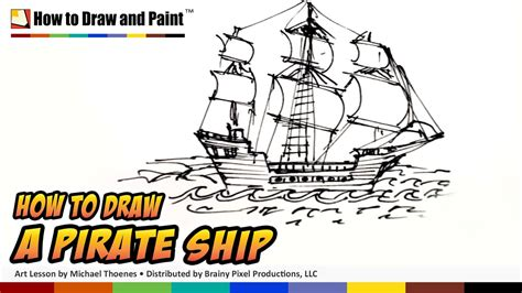how to draw a boat hard how to draw a pirate ship doodle art for kids draw