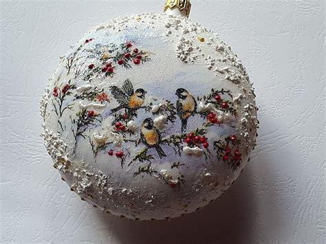 Decoupage Balls - decoupage joanna handmade by joannay