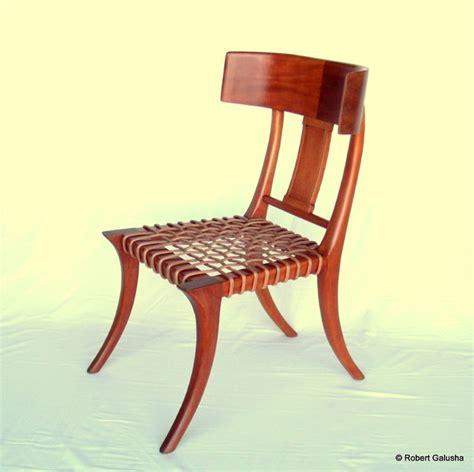 klismos chair in mahogany mediterranean dining chairs