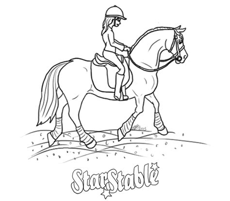 coloring pages of stable stuff stable ride through