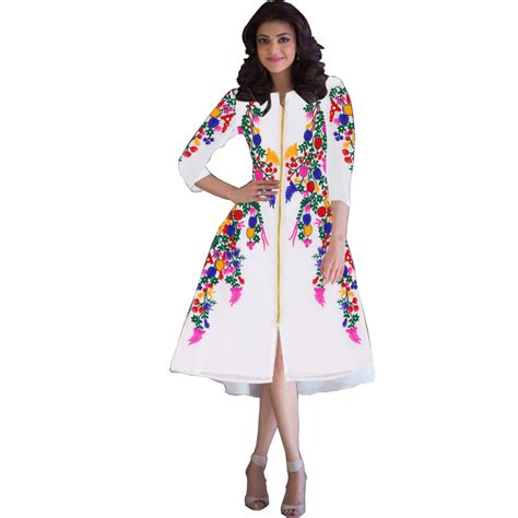 black and white kurti patterns buy bollywood collection white georgette embroidered kurti