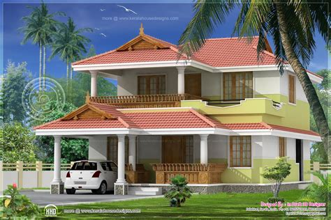 3 bed room traditional villa 1740 sq kerala home