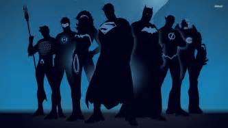 Superhero silhouettes wallpaper 1280x800 superhero silhouettes
