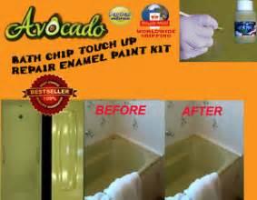 avocado bath chip paint 30ml bath chip touch up kit