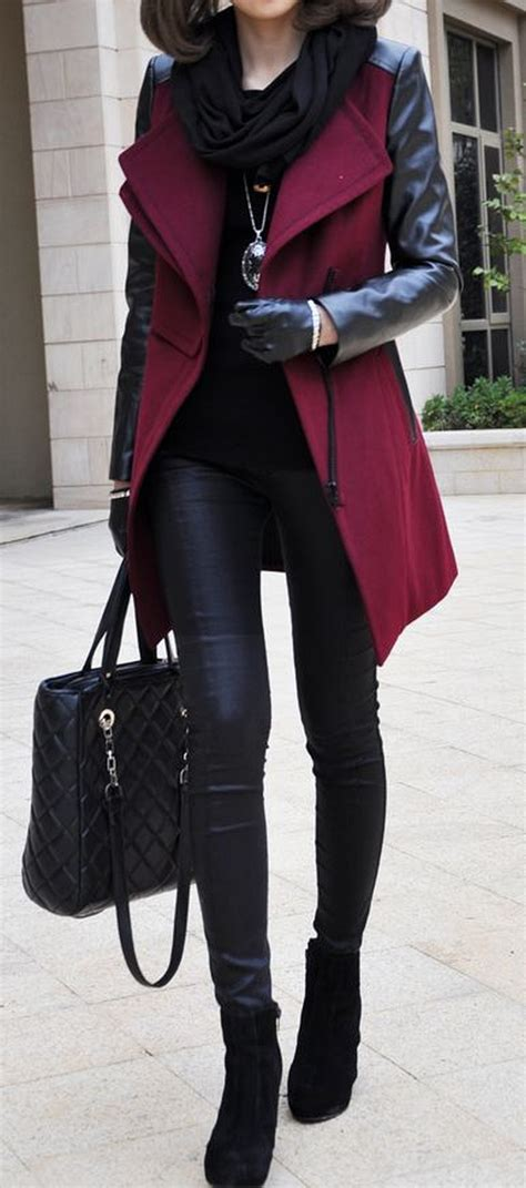 Amel Parka Maroon 34 and fashionable in burgundy