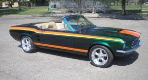 1967 ford mustang with retractable hardtop and lambo doors