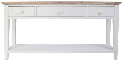 White Console Table Florence White Console Table Stunning Kitchen Console Table 3 Drawers Bargain Ebay