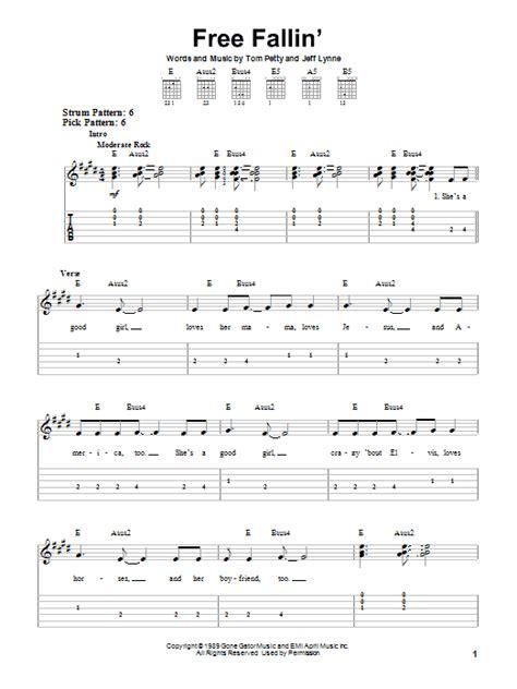 Free Falling Guitar Chords