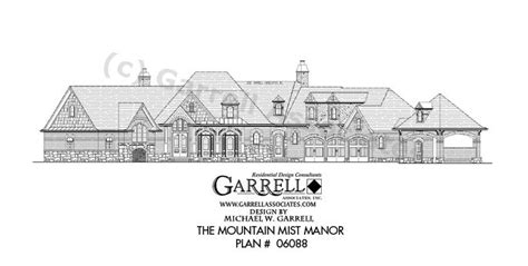 telmoore manor 05299 house plans by garrell 10 best images about house plans 6500 s f 7 000 s f on