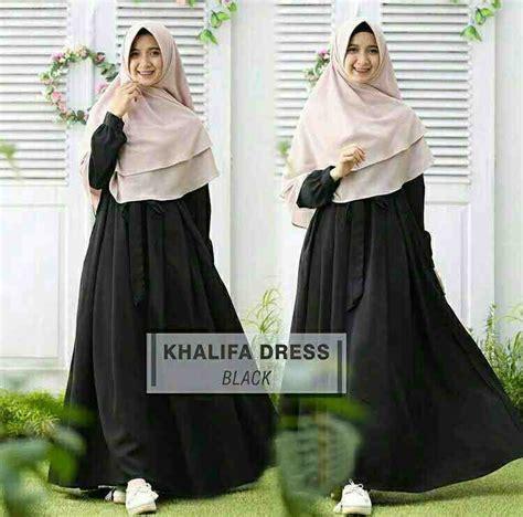 New Gamis Syari Hitam Baju Gamis Syari baju gamis syari jumbo terbaru khalifa hitam model baju gamis terbaru
