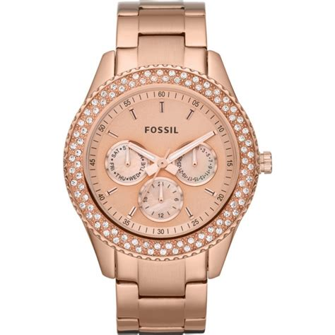 Gossil Rantai Rosegold Cover Black es3003 fossil watches2u