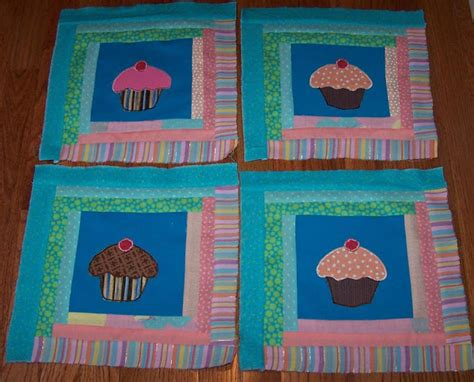 Cupcake Quilt Block by Zoey Quilts Cupcake Log Cabin Blocks