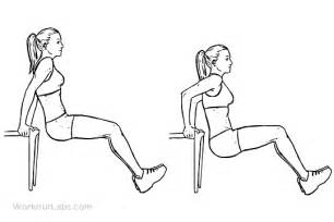 Chair Yoga Routines Chair Tricep Dips Illustrated Exercise Guide Workoutlabs