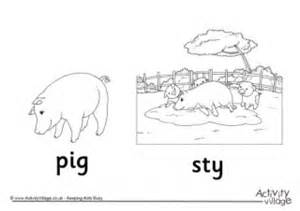 sty coloring pages pig colouring page