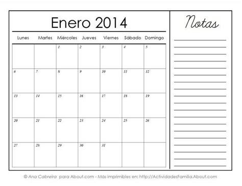 calendario enero 2015 en blanco para imprimir gratis calendarios imprimibles del 2014 con espacio para notas
