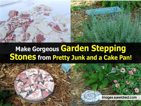 garden made from junk make gorgeous garden stepping stones from pretty junk and
