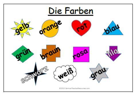 colors in german colours in german word mat german