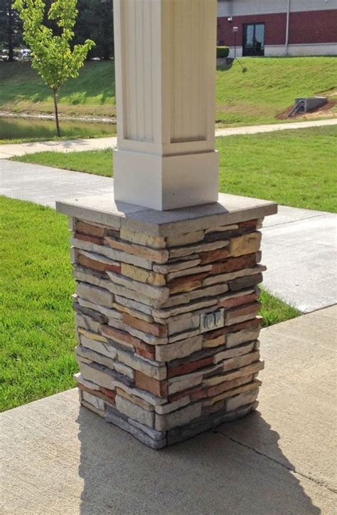 m rock install with screws manufactured stone column