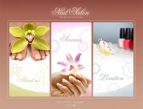 Nail Salon Flash Template 25395 Nail Salon Website Template Free
