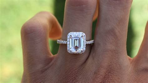 1.50 Carat Emerald Cut NEO Moissanite & Diamond Halo