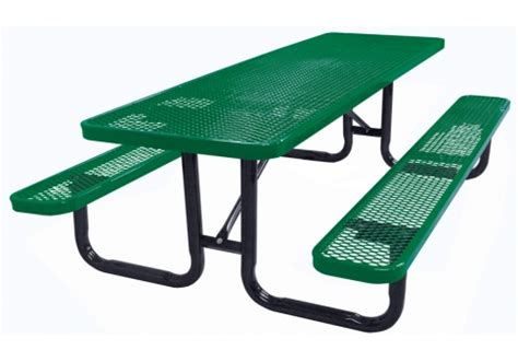 metal picnic tables 8 foot expanded metal picnic table commercial site