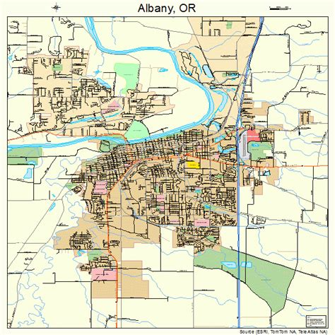 albany oregon street map 4101000