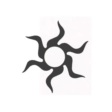 make your own tribal tattoo tribal sun temporary design 2x2 inch create