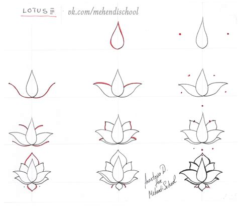simple henna tattoo designs step by step how to draw classic indian mehndi lotus easy tutorial