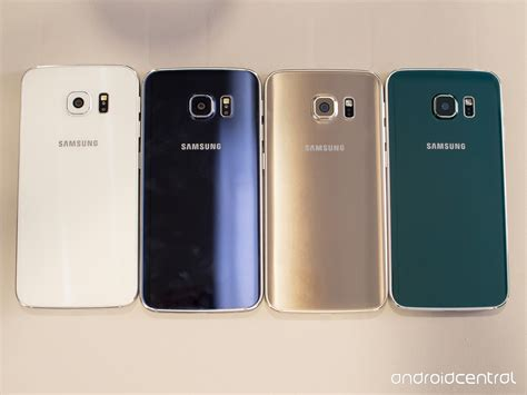 Samsung Galaxy S6 Colors samsung galaxy s6 and s6 edge on preview android central