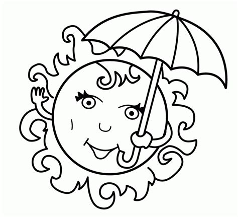 coloring pages of free printable summer coloring pages for